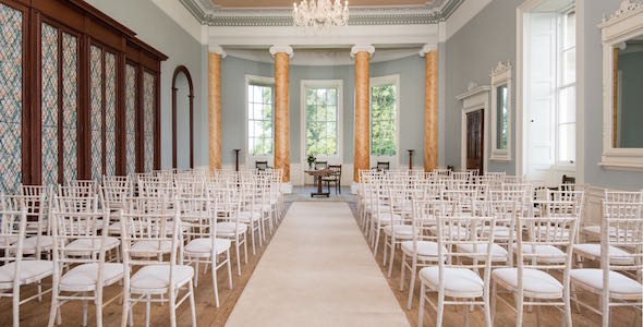 The ballroom is an elegant, bright setting for a wedding ceremony by day and a fabulous setting for a ceilidh by night