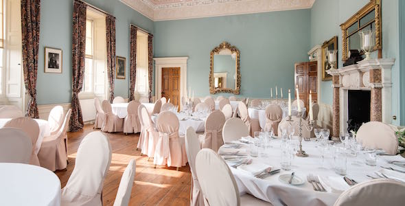 The magnificent dining room seats up to 86 guests
